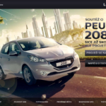 Peugeot 208 online hra s ovládaním cez webkameru