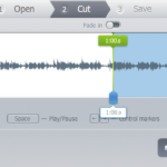 Strih zvuku online pomocou MP3Cut.net