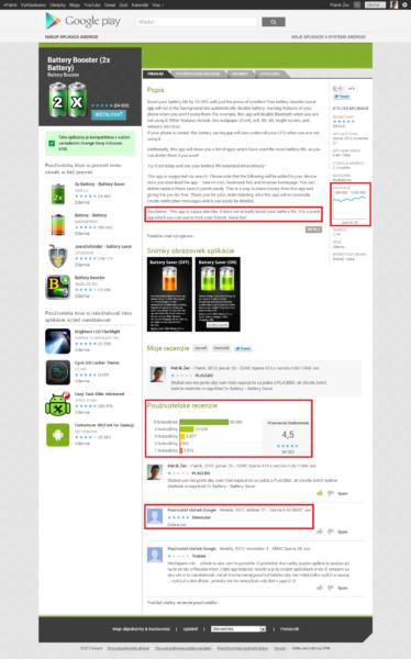 Snímka aplikácie v obchode Google Play