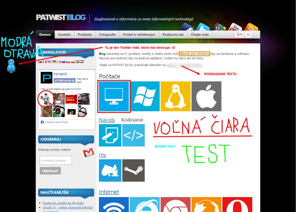 Ako odfotiť webstránku