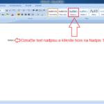 Microsoft Word 2007: Nadpisy a ich štýlovanie