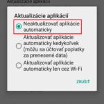 Ako vypnúť automatické aktualizácie aplikácií