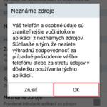 Inštalácia aplikácií z neznámych zdrojov na Androide