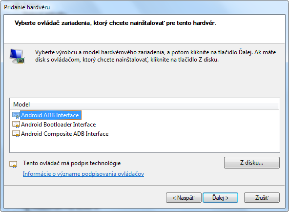 Ako nainštalovať ovládače pre Android ADB