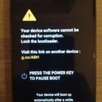 LG G6 ako zamknúť bootloader