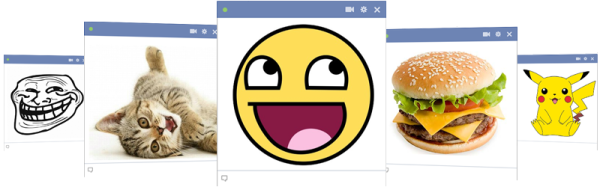 Facebook chat images header